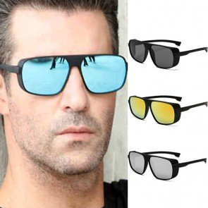 Vintage Steam Punk Aviator Side Shields Sunglasses
