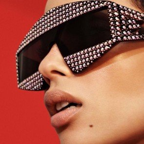 Chic bold futuristic aviators big see-through fade lens