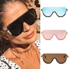 Luxury Oversized Pearls Sunglasses Fashion Big Frame