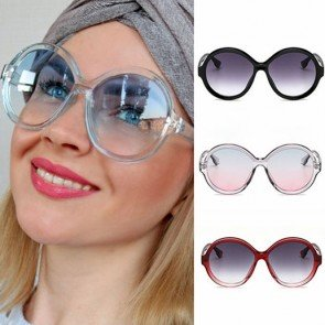 Oversized Sunglasses Women Vintage Round Gradient Shades