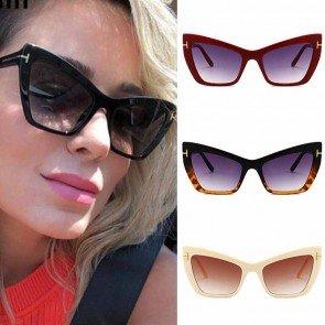 Trendy Luxury Cat Eye Sunglasses High Raised Frame