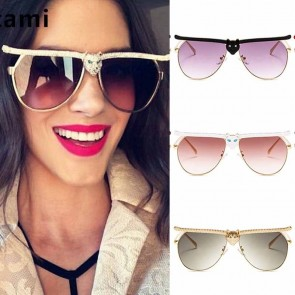 Luxurious leopard head stunning cat eye sunglasses