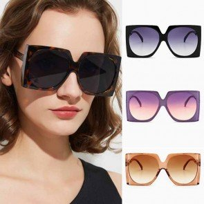 Simple fashion stylish Large square frame big shades