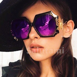 Oversize Unique Butterfly Sunglasses Elegant Shades
