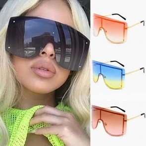 One piece sunglasses trendy oversize shield sunnies