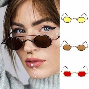 Steam Punk Sunglasses Hippie Retro Round Removable Lens