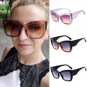 Horn rimmed Thick Plastic Cat Eye Sunglasses for Girls