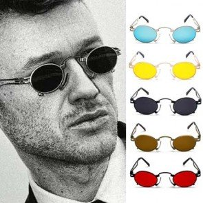 Retro Oval Small Punk Sunglasses Tiny Gothic Frame
