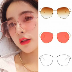 Dapper indie candy color flat lens pentagon sunglasses