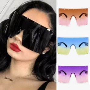 Wraparound Shield Super Oversized One Piece Sunglasses