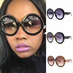 Modern bold rim super cute oversized round sunglasses
