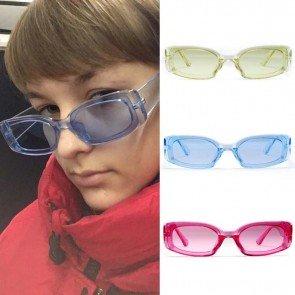 Rectangular Sunglasses Rectangle Candy Color Eyewears