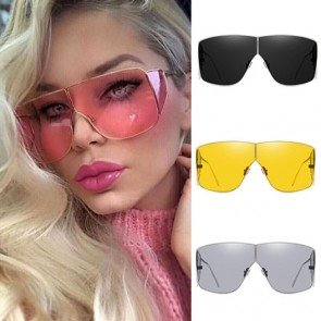 Side cap luxury aviator sunglasses steampunk big shades