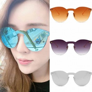 Horn rimmed round shades flat lens trendy silhouette