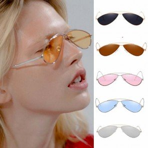 Colorful tear drop aviators editorial sunglasses