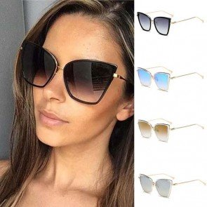 High pointed large frame cat eyes women sunglasses