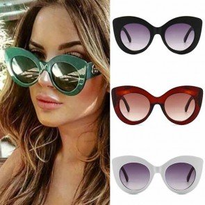 Gradient Colored Cat Eye Oversize Sunglasses for Girls