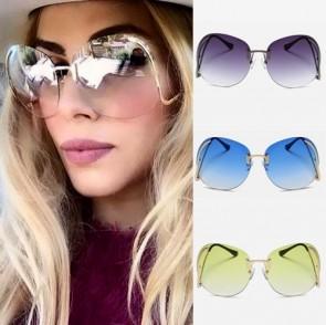 Superb stunning oversize rimless clear lens sunglasses