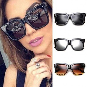 Flat Top Eyewear Women Sunglasses Rivet Sun Glasses