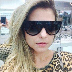 Elegant vintage women flat top cat eye sunglasses