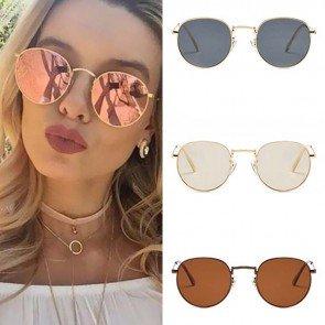 Retro glamour round sunglasses lennon style shades