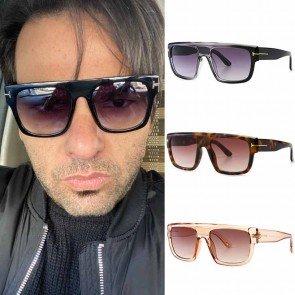 Flat Top Comfy Legs Acetate Frame Aviator Sunglasses