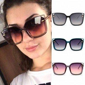 Big frame square shades flat lens vintage sunglasses