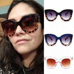 Retro elegant womens cat eye oversized sunglasses