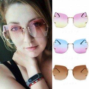 Ocean Film Sunglasses Eyeglass Irregular Lens for Women