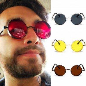 Fashion Round Vintage Steampunk Metal Sunglasses