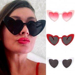 Cute sexy vintage fashion women love heart sunglasses