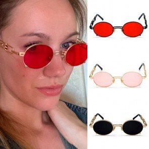 Romantic Retro Steampunk Round Gothic Sunglasses