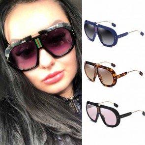 Oversized Flat Top Aviator Sunglasses Big Frame Goggle
