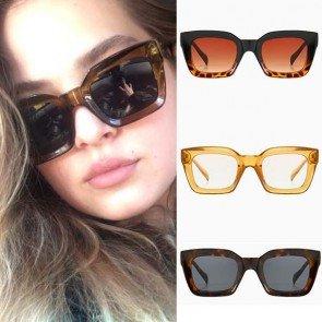 Luxurious oversized classic vintage square sunglasses
