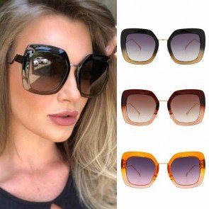 Vogue Multicolored Big Square Sunglasses Zigzag Legs