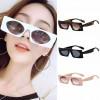Flat top frame square sunglasses rectangle boxy eyewear