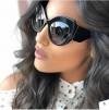 Vintage inspired oversize big lens cat eyed sunglasses