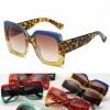 Fashion Two Tone Oversized Twinkling Bling Sunglasses