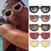 Dome round super cute sunglasses trendy flat top frame