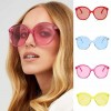 Dapper indie candy colored large lens round sunglasses