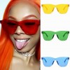 Shield one piece sunglasses see-through fresh colors