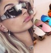 Sunglasses One Piece Lens Cat Eye Shades Summer Style