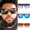 Funky square men sunglasses flat top acetate frame