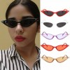 Modern Candy Colored See-Through Cat's Eye Sunglasses