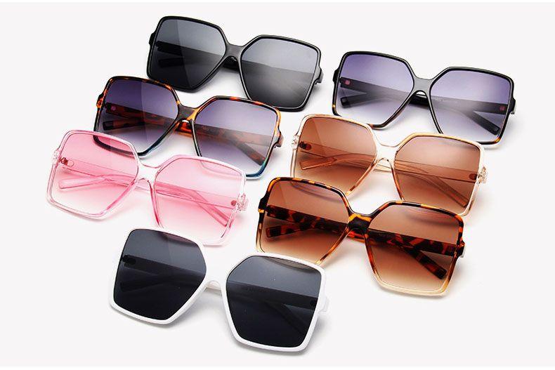 Retro large boxy frame oversized square sunglasses