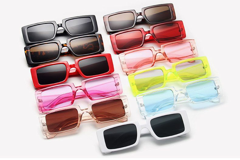 Celebrity square thick frame oversize cat eyed shades