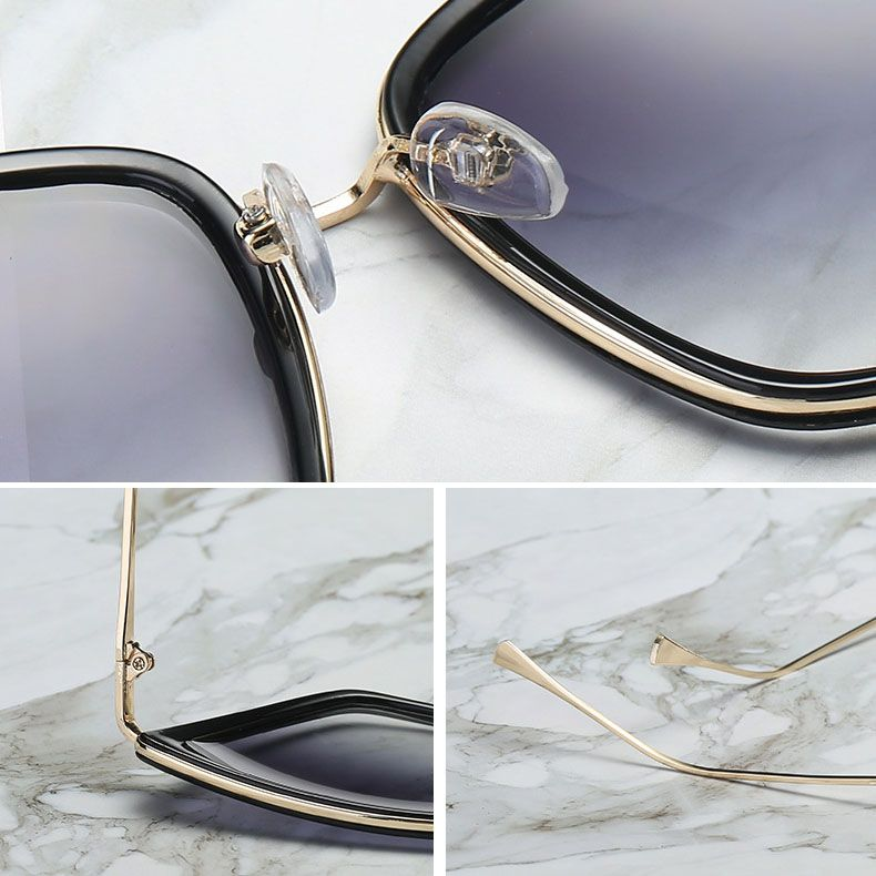 Luxury rimless oversized cat eye pearls sunglasses
