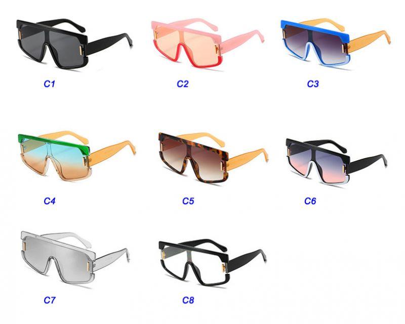 Futuristic Shield One Piece Lens Aviator Sunglasses