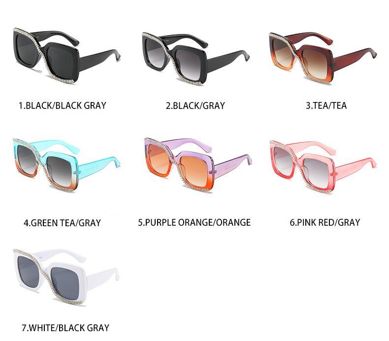 Rhinestone oversize sunglasses crystal bling glasses