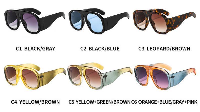 Flat top aviator sunglasses w/ cute bongrace & rivets